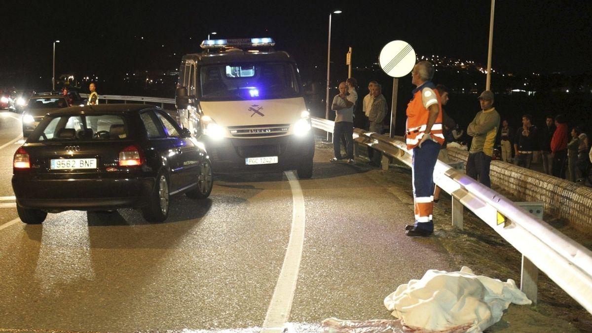 Accidente de tráfico en Baiona, Pontevedra. Foto: EFE.