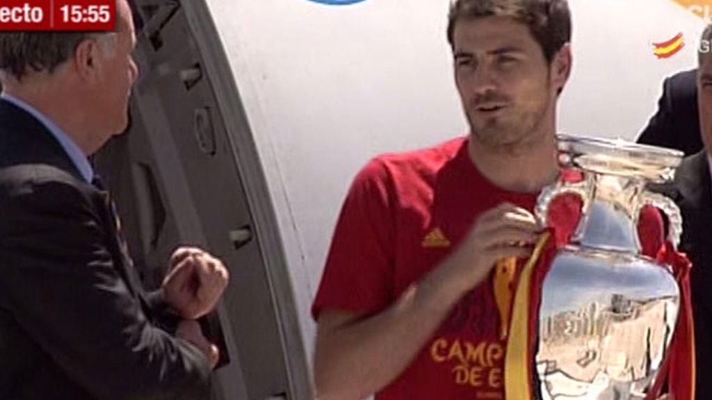 'La Roja' aterriza en España