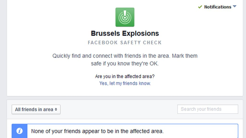 Facebook activa el 'Safety Check' tras los atentados en Bruselas