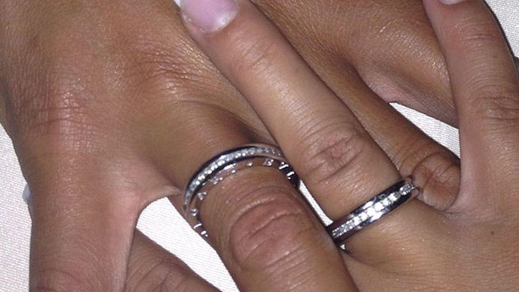 Las alianzas de boda de Tamara Gorro y Garay