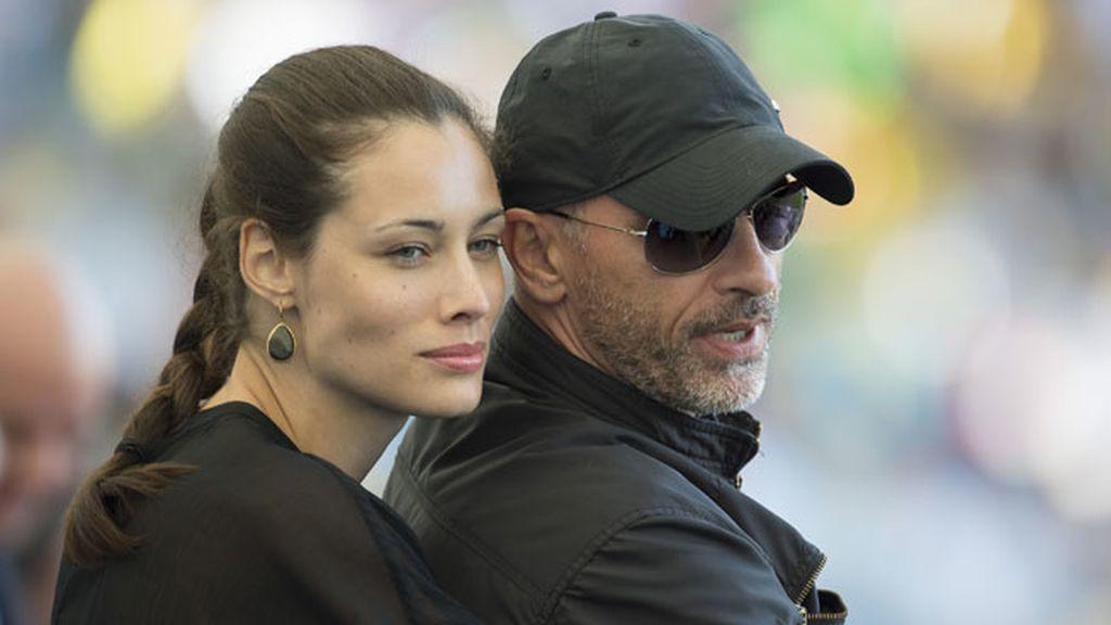El cantante Eros Ramazzotti y su mujer, Marica Pellegrini