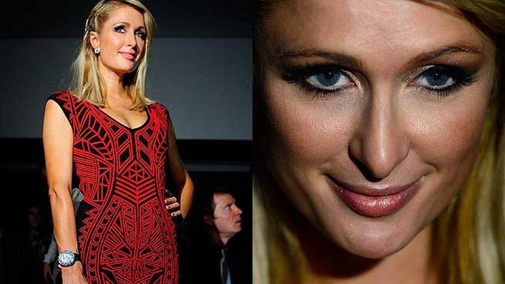 Paris Hilton no quiso perderse el desfile de su novio