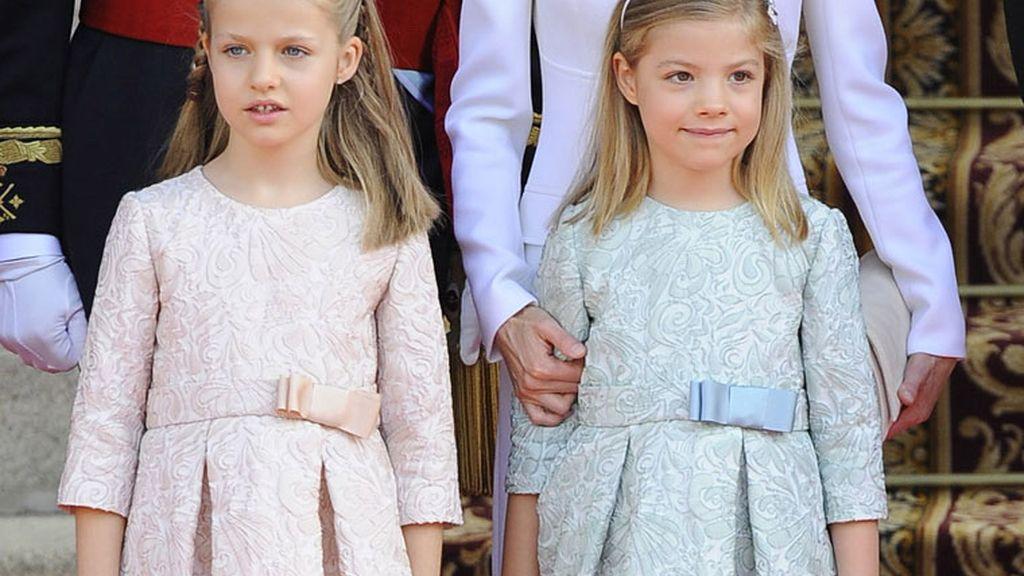 Las 'princesitas' Leonor y Sofía