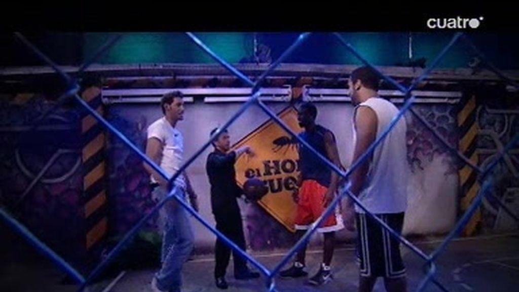 Rudy Fernández y Pablo Motos juegan al basket en el Bronx