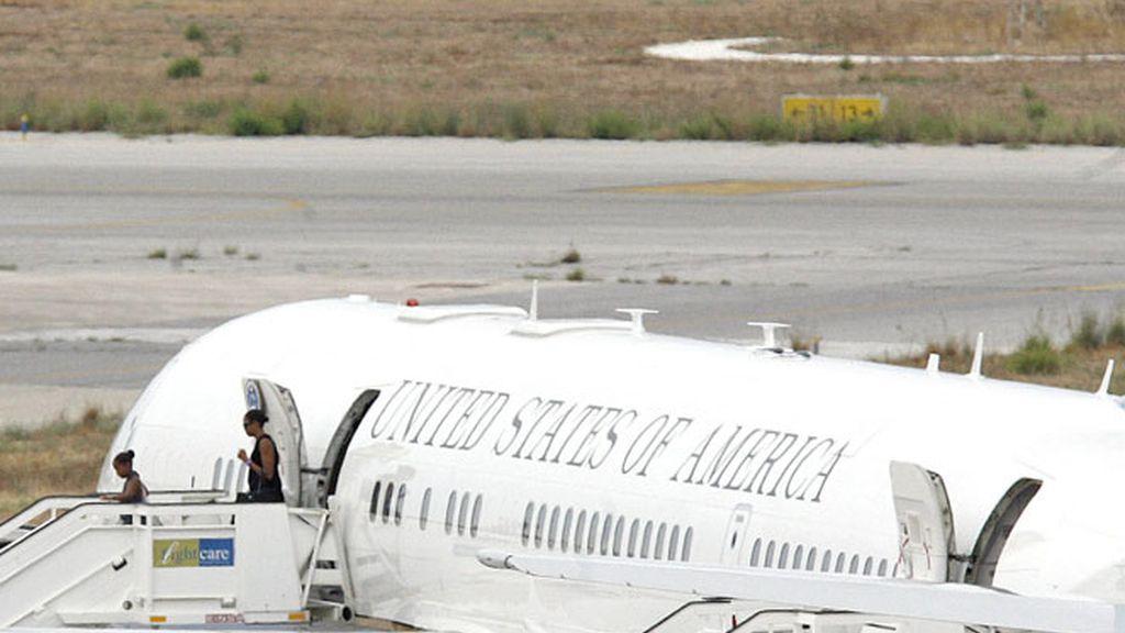 Imagen de archivo del avión de la primera dama de EEUU, Michelle Obama.