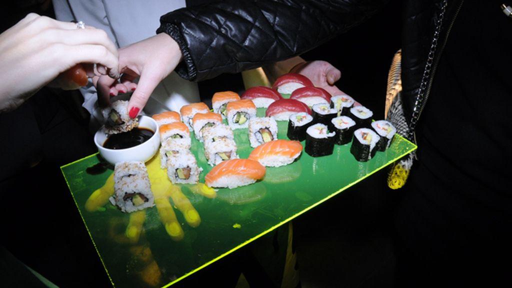 No podía faltar el sushi en la fiesta de ARCO