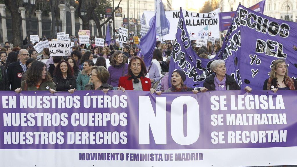 Madrid clama contra la reforma de Gallardón