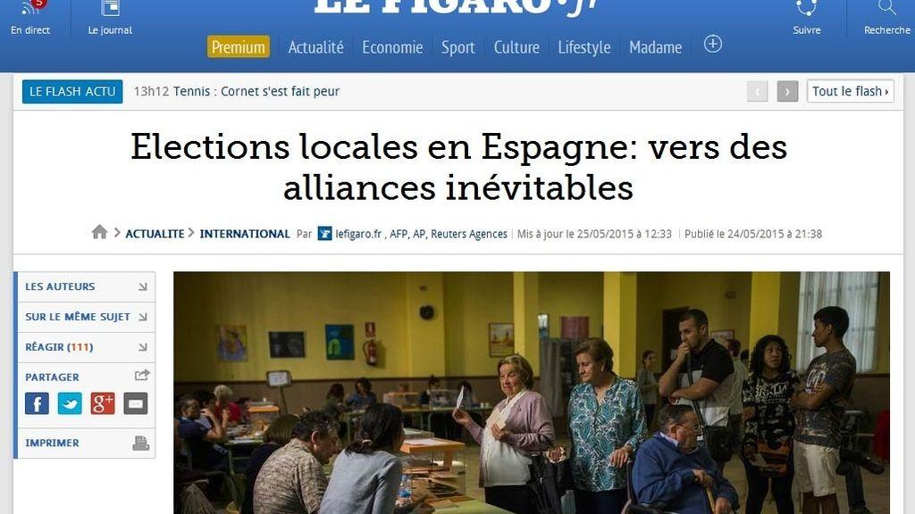 Le Figaro señala que los resultados electorales en España abocan inevitablemente a las alianzas