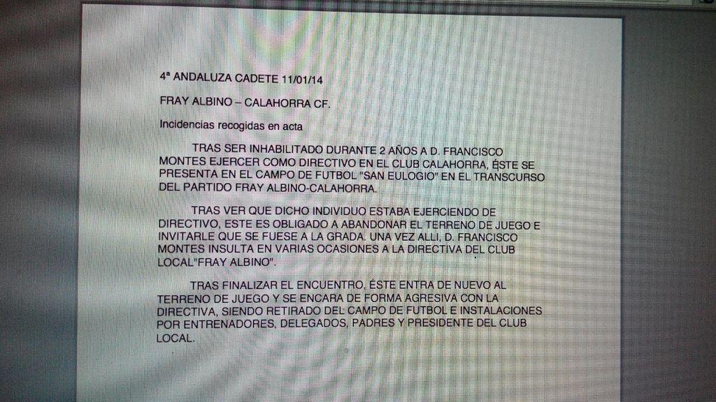 Calahorra,Cordoba,arbitro,Violencia