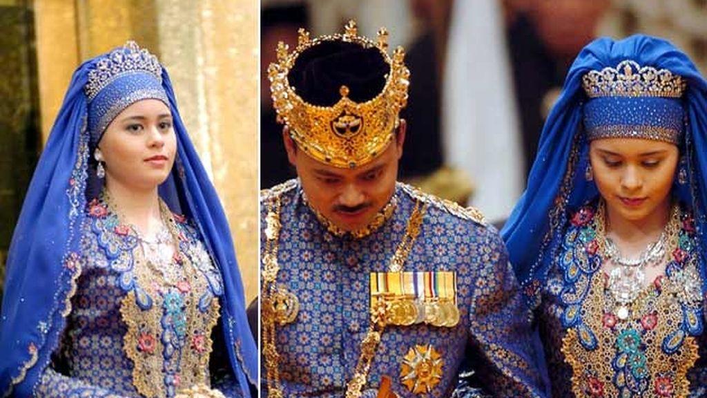 09-09-2004 Dayangky Sarah Binto y el príncipe Haji al Muhtadee de Brunei