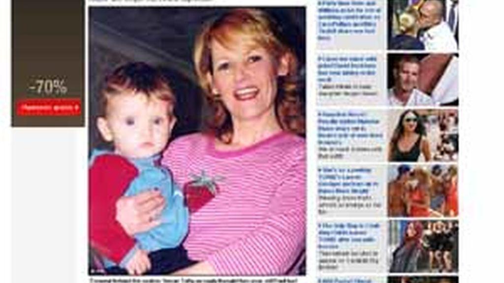 Susan con su hijo Paul, poco tiempo antes de la tragedia. Foto: Daily Mail