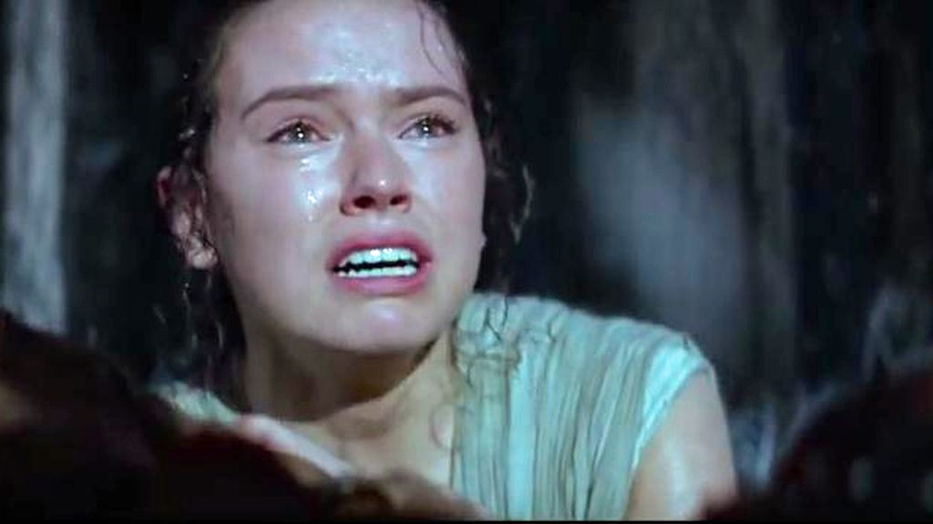Star Wars trailer Rey llorando