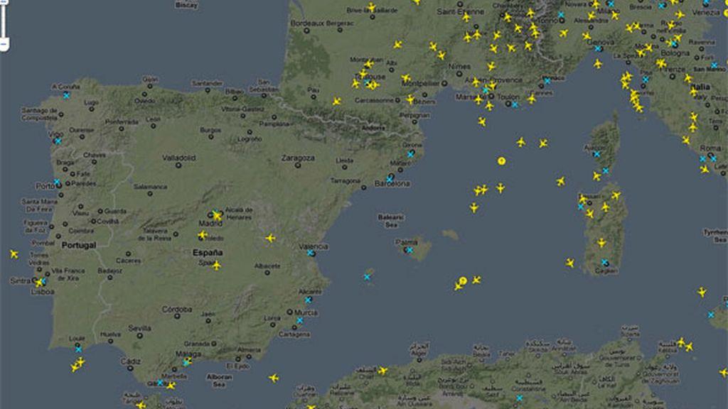 Imagen el Radar tras la reapertura del espacio aéreo