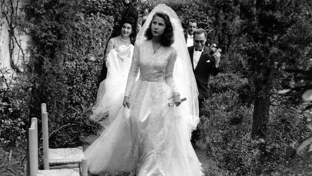 La Duquesa de Alba, el día de su boda con Luis Martínez de Irujo
