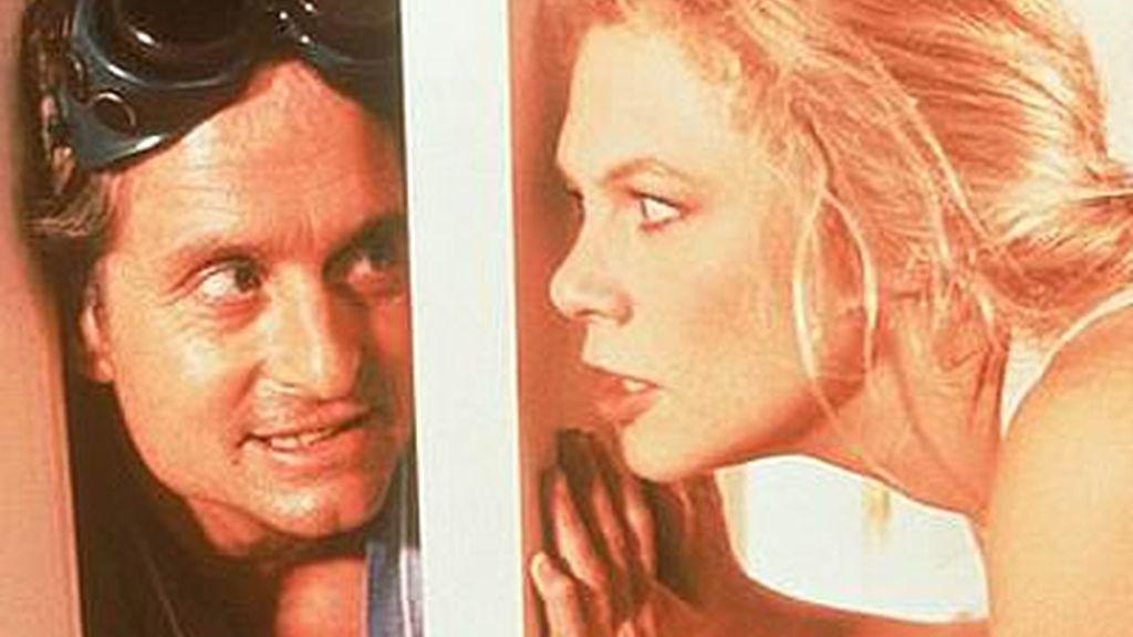 Michael Douglas y Kathleen Turner
