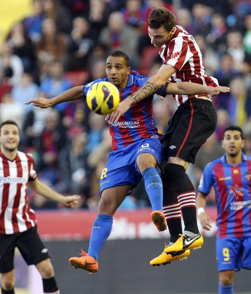 El Levante arrolla al Athletic Club en la Liga BBVA. Foto: EFE