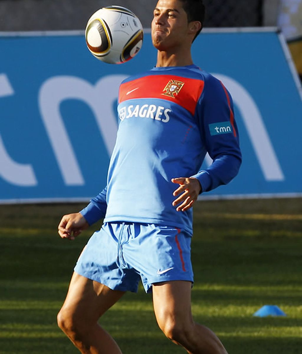 Cristiano Ronaldo, en un entrenamiento