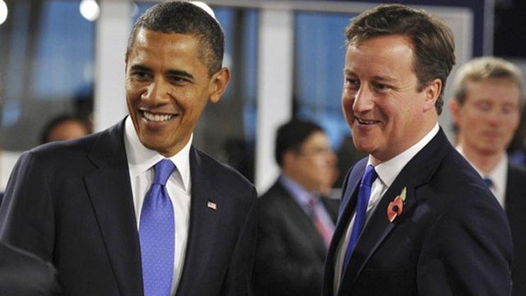 Imagen de archivo de Barack Obama y David Cameron