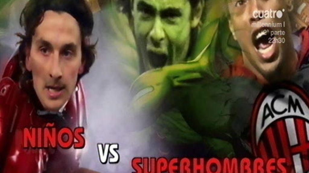 Los niños del Madrid contra los superhombres del Milan