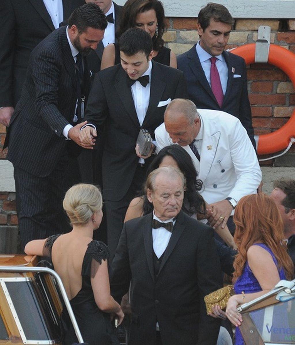 Los invitados de la boda de George Clooney y Amal Alamauddin colapsaron el gran canal