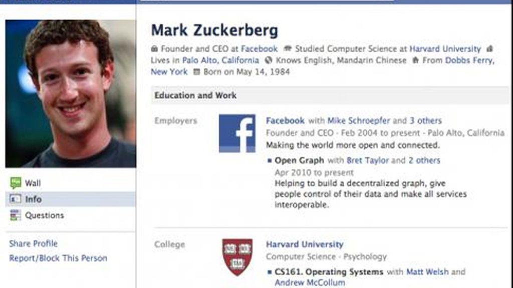 Mark Zuckerberg: El primer usuario de Facebook tenía que ser su fundador.