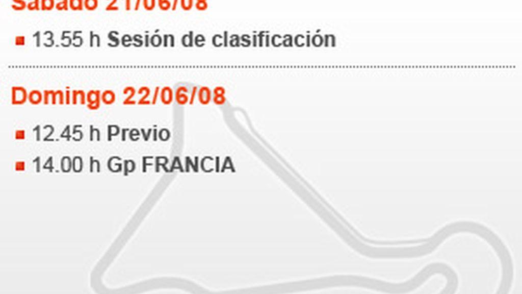 Horario del GP de Francia