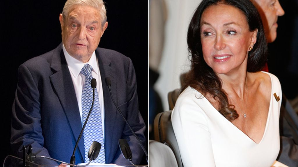George Soros y Esther Koplowitz