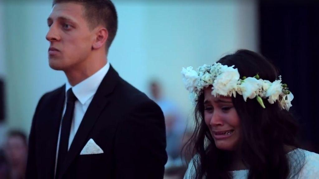Emocionante haka en una boda