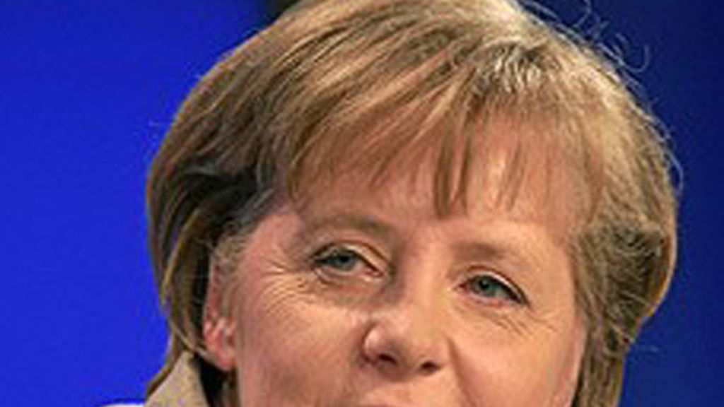 Ángela Merkel, a su llegada a una reunión en Bruselas de líderes del Partido Popular Europeo (PPE).