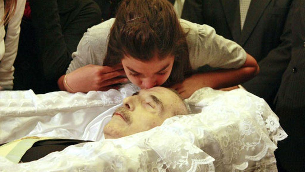 El entierro de Alfonsín