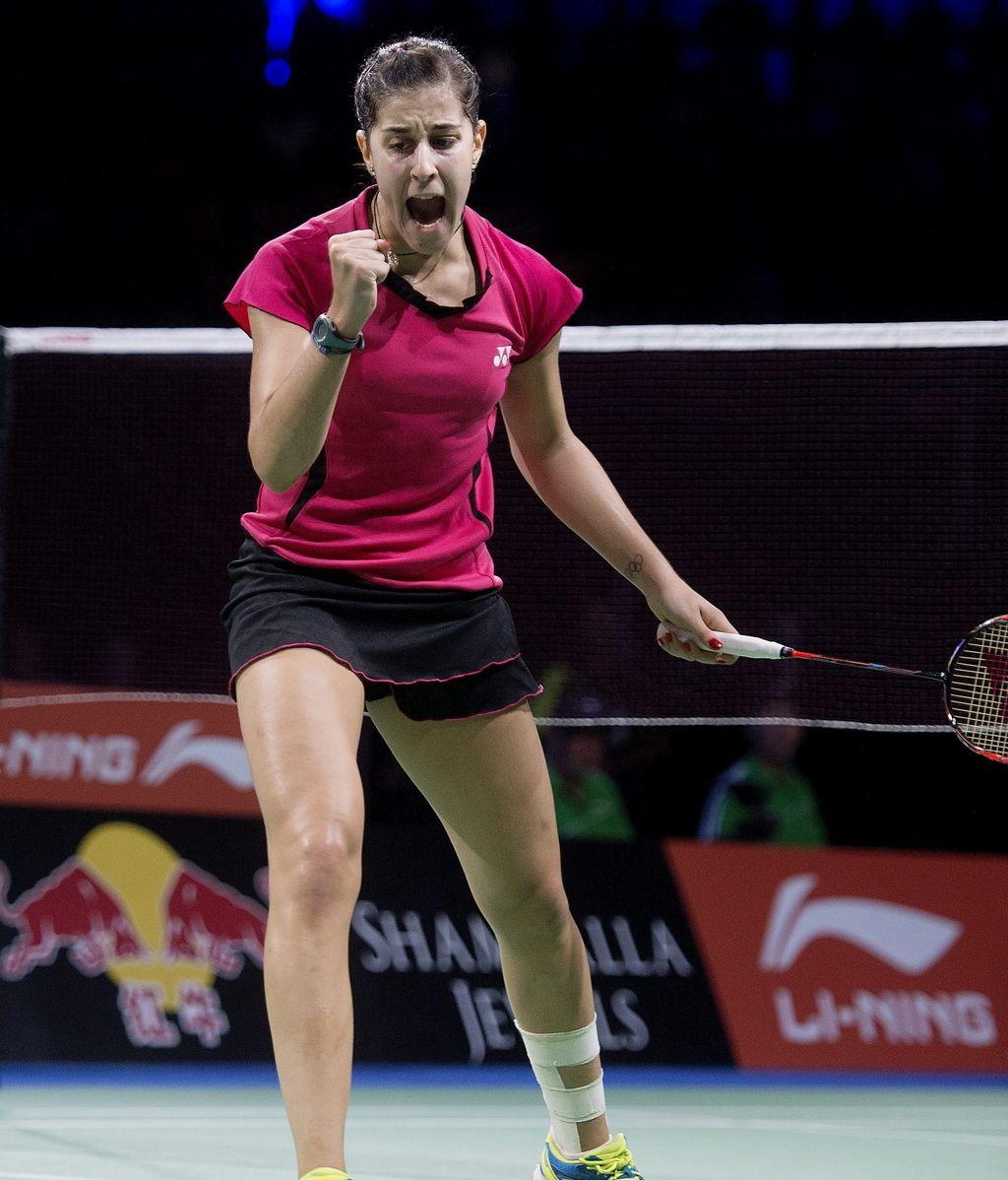 Carolina Marín en la semifinal del BWF Word Badminton