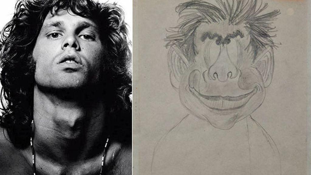 Dibujo a lápiz de Jim Morrison