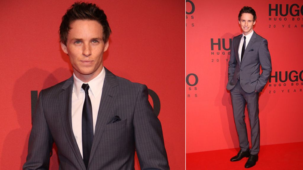 Eddie Redmayne, actor de 'Los Miserables', espectacular en la fiesta de Hugo Boss