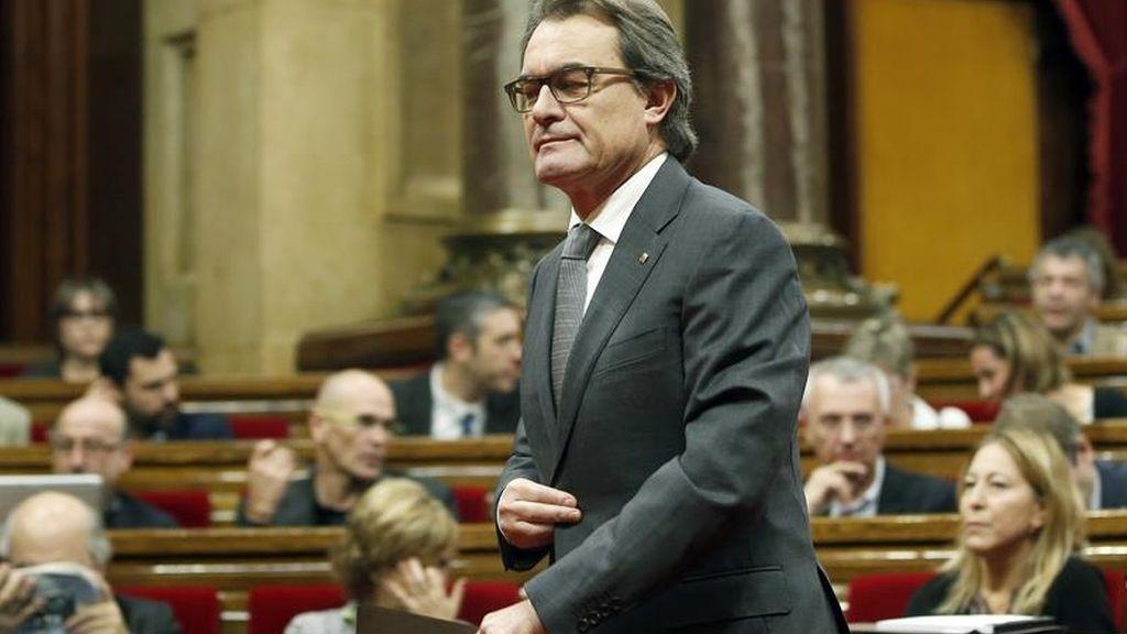 Artur Mas durante la segunda sesión del debate de investidura