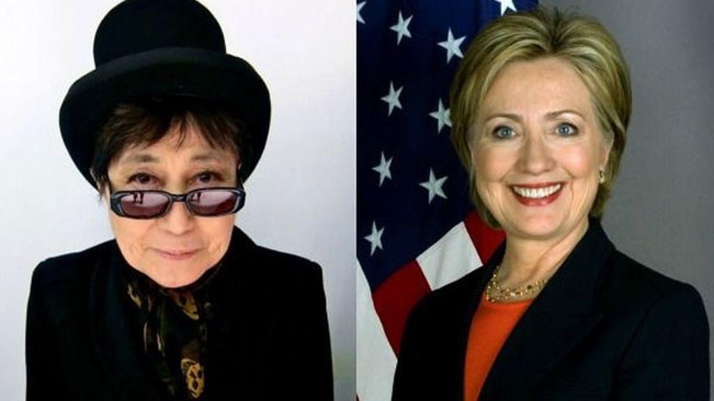 Yoko Ono, Hillary Clinton