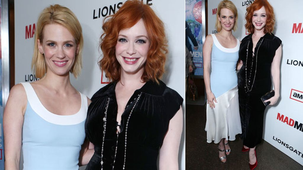 January Jones y Christina Hendricks, deslumbrantes y felices