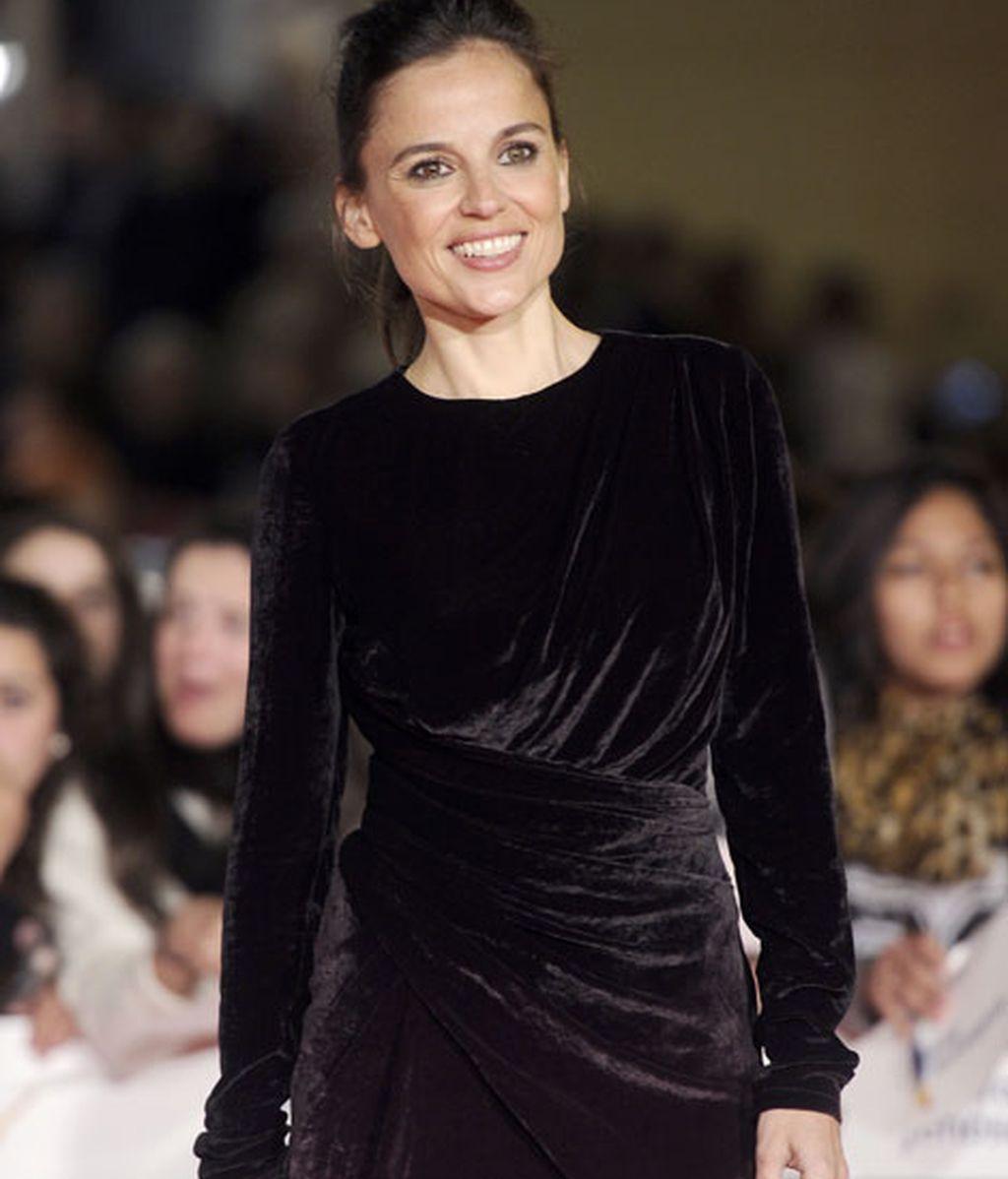Elena Anaya, con vestido de tercio pelo