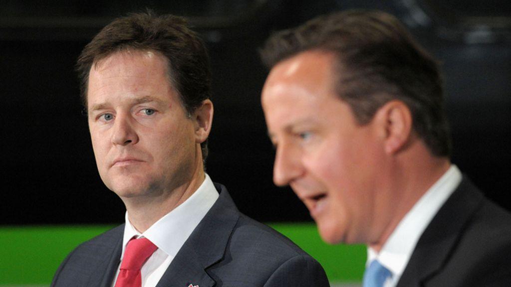 Nick Clegg y David Cameron