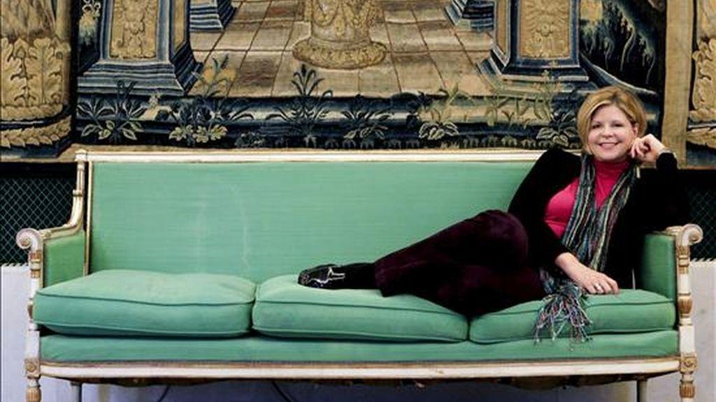 """La mezzosoprano estadounidense Susan Graham, probablemente la mejor Ifigenia que se puede desear para la ópera de Gluck que estrena el Teatro Real la próxima semana, durante una entrevista con Efe en la que confiesa que es un papel tan exigente, tiene una profundidad tan enorme, que cantarlo es """"como hacer dos meses de psicoterapia"""" EFE"""