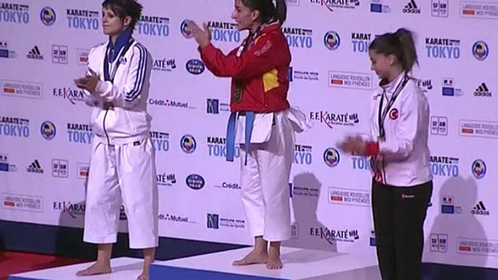 Sandra Sánchez, campeona de Europa de kárate