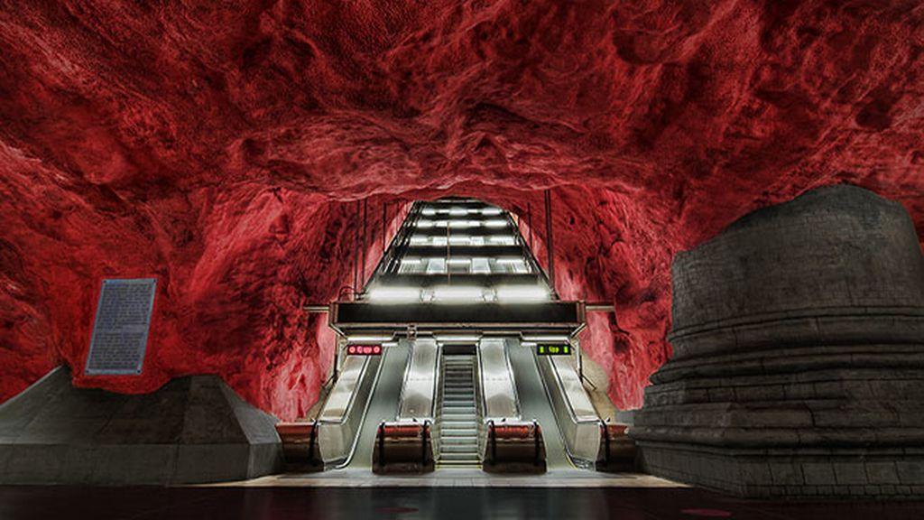 Estación de Solna, Estocolmo, Suecia