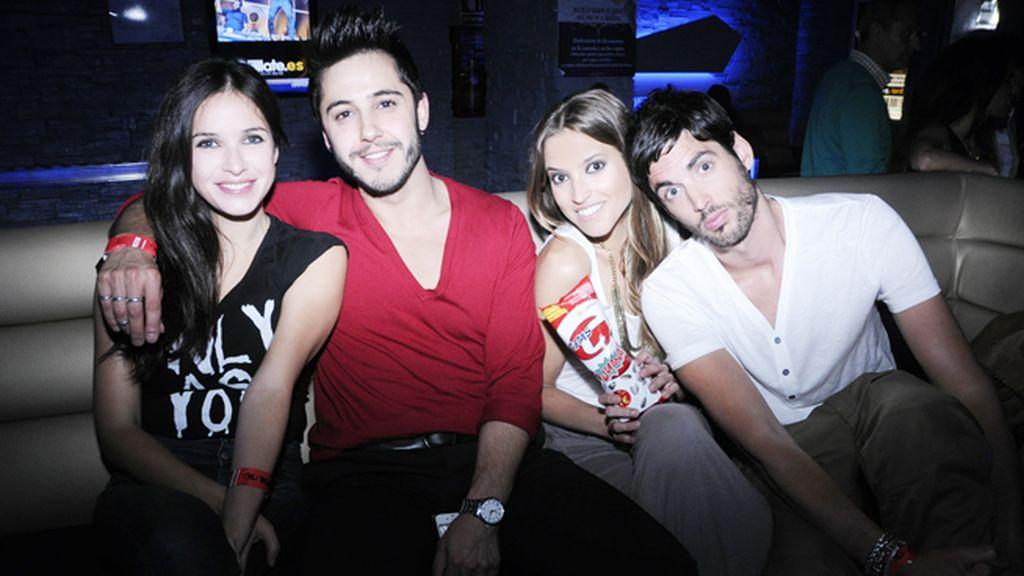 Paula Prendes, Gabriel Llanos, Ana Fernández y Santi Trancho