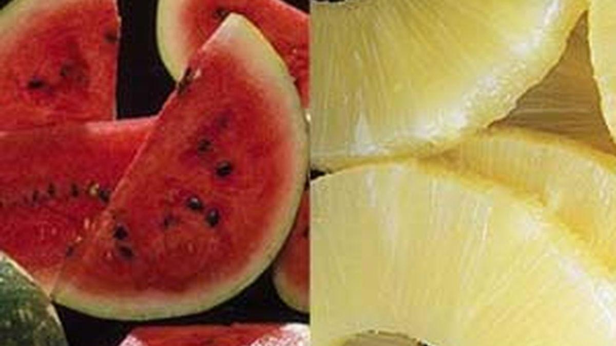 La sandía y la piña son las frutas más recomendadas en las dieta diuréticas