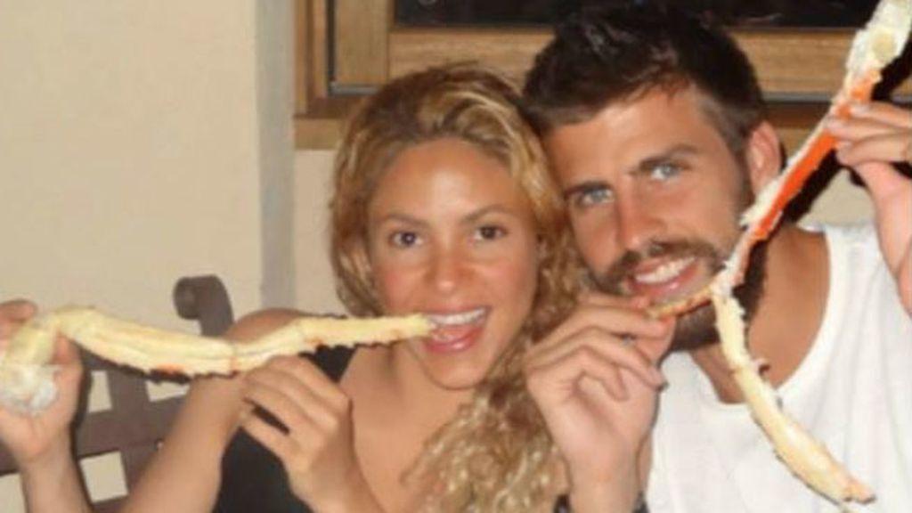 Shakira y Piqué compartieron una jugosa mariscada