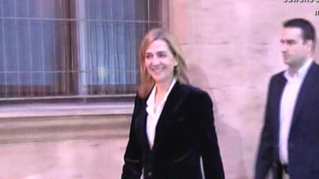 La Infanta abandona los juzgados de Palma