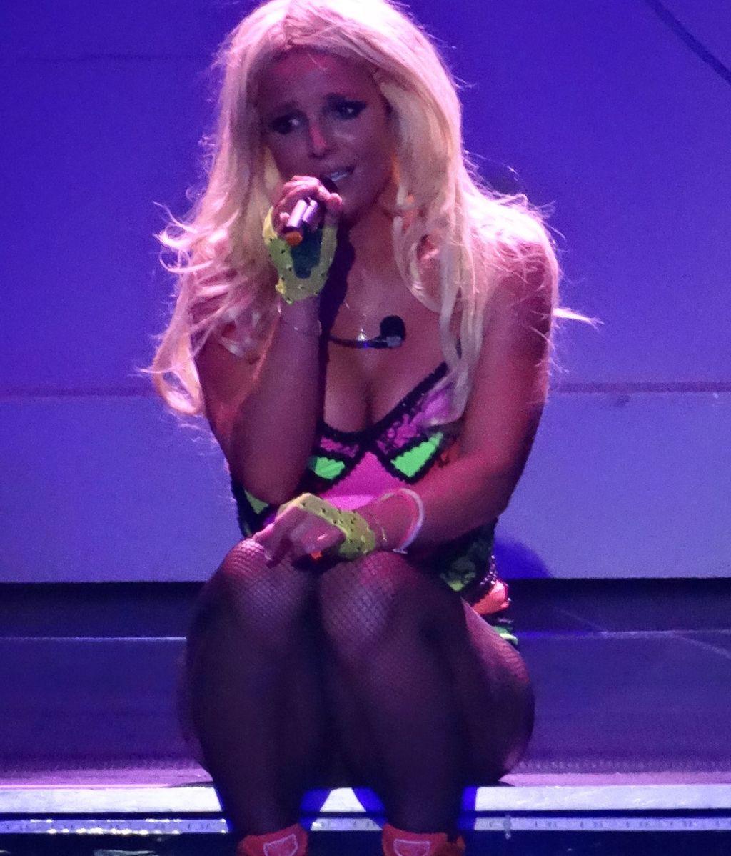Britney Spears durante su concierto