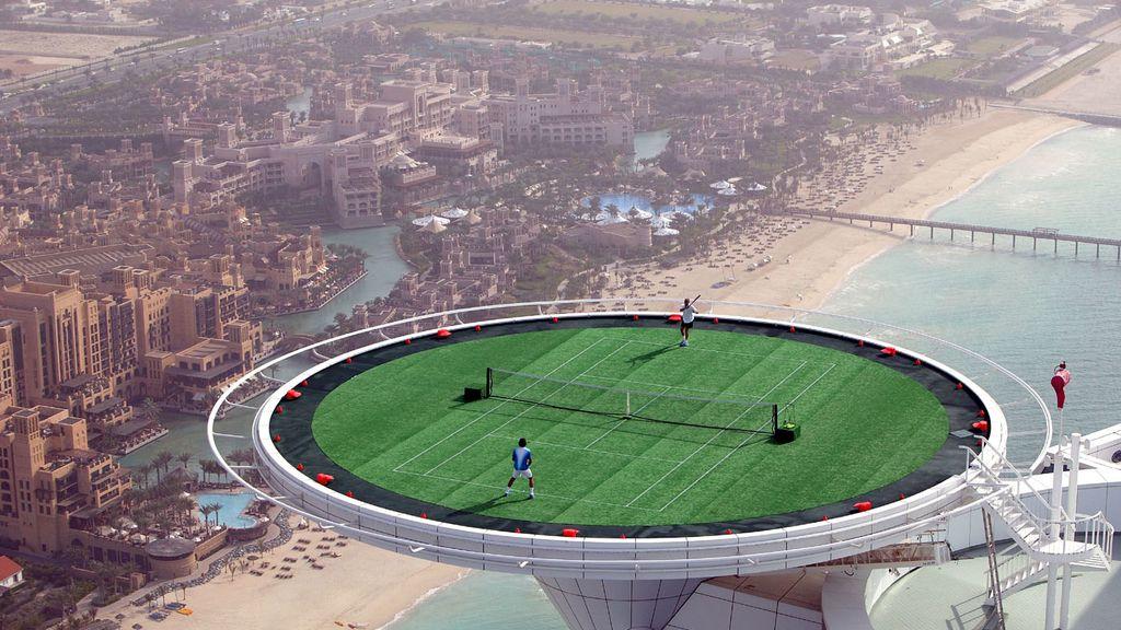 13. La pista de tenis más alta del mundo, Dubái