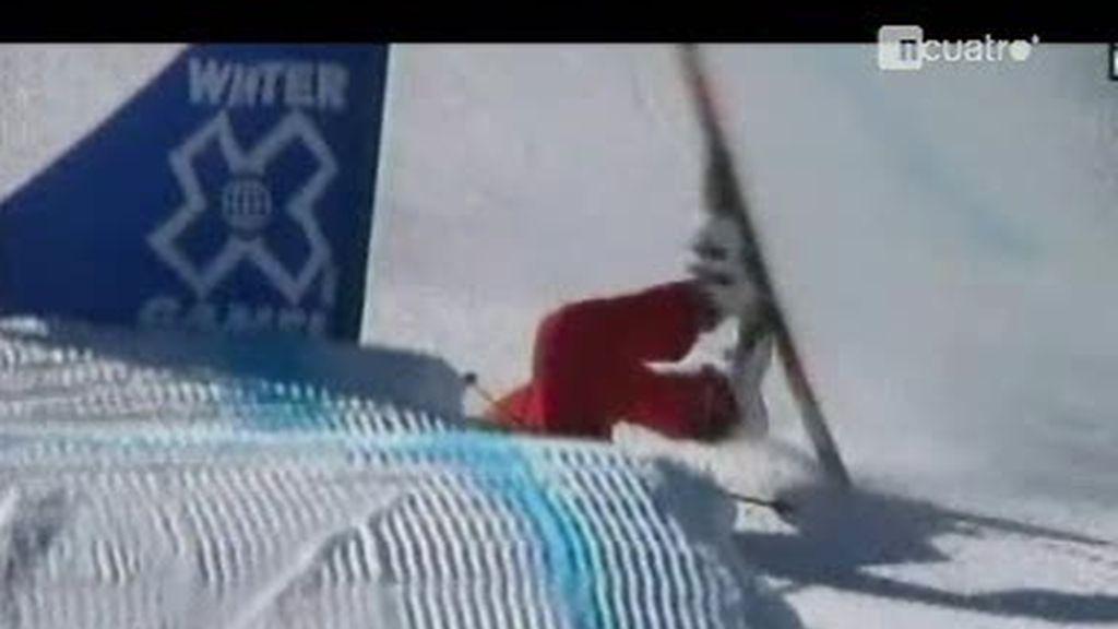Aparatosas caídas practicando deportes de invierno