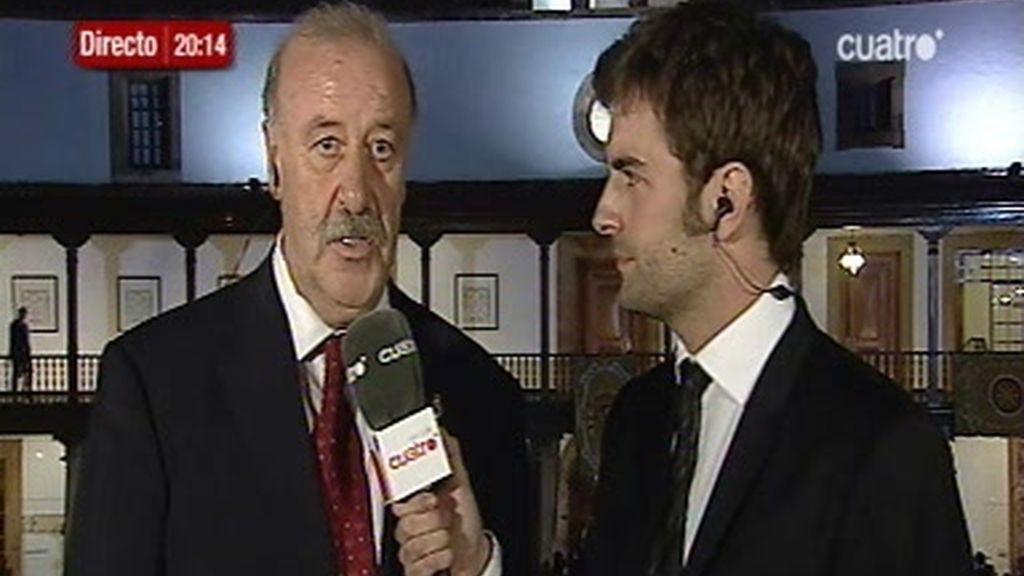 Entrevista con Vicente del Bosque tras recoger el Premio Príncipe de Asturias