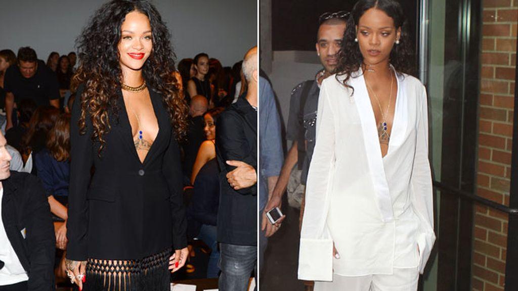 El 'no pants' y los escotazos de Rihanna
